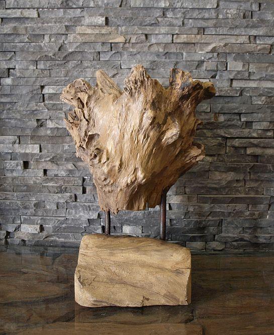 holzskulptur teakholz holz wurzel holzobjekt kunst statue deko massiv. Black Bedroom Furniture Sets. Home Design Ideas