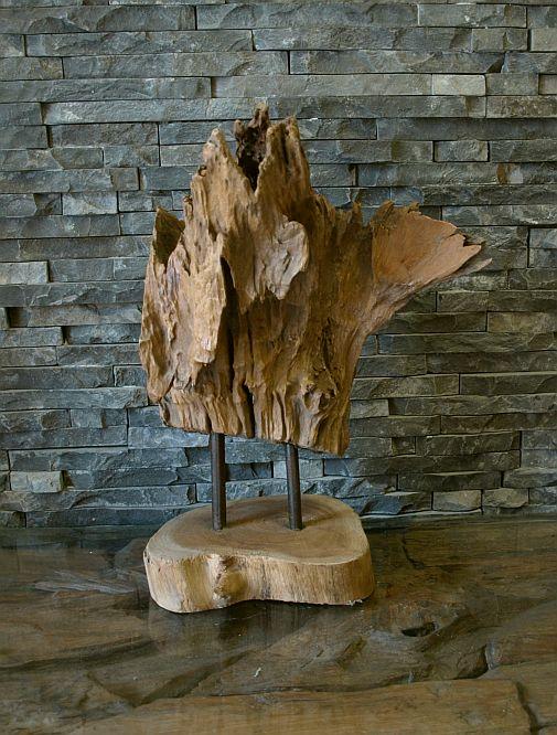 holzskulptur teakholz holz wurzel holzobjekt kunst statue deko massiv ebay. Black Bedroom Furniture Sets. Home Design Ideas