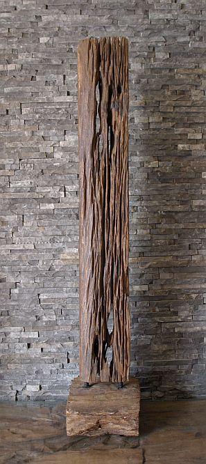 holz skulptur balken alte bahnschwelle statue deko kunst holzobjekt 119cm ho1276 ebay. Black Bedroom Furniture Sets. Home Design Ideas