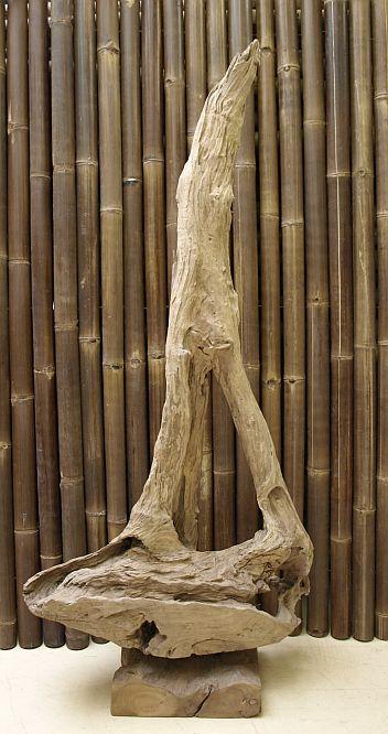 holzskulptur teak wurzel holzkunst treibholz kunst statue deko holzobjekt ho1358 ebay. Black Bedroom Furniture Sets. Home Design Ideas