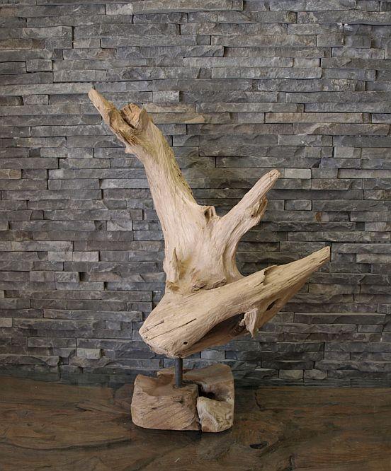 Teak wurzel alt holz treibholz garten kunst deko skulptur for Wurzel deko garten