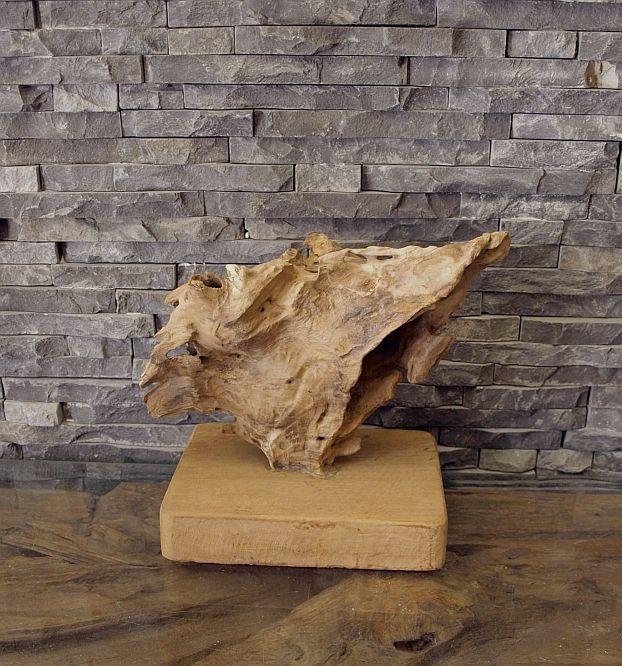 teak alt holz skulptur wurzel treibholz kunst statue deko holzobjekt ebay. Black Bedroom Furniture Sets. Home Design Ideas
