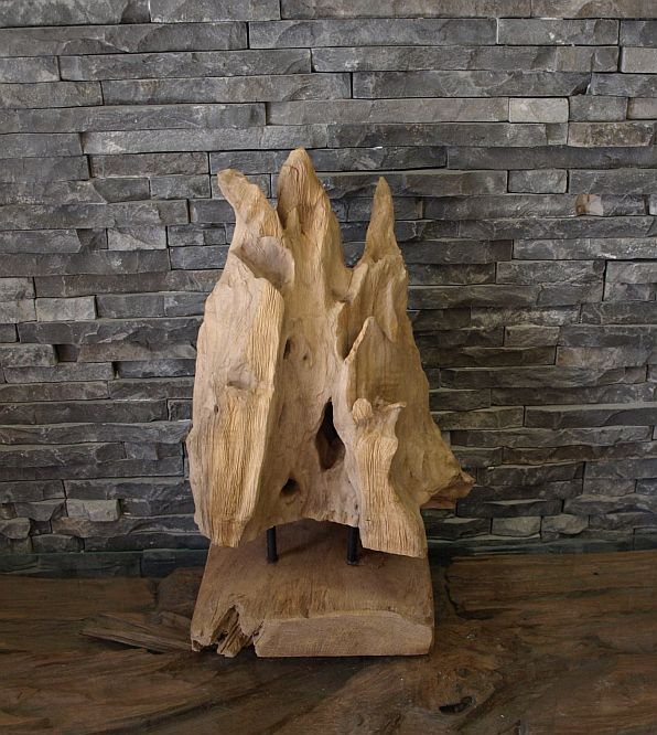 Holz Skulptur Teak Wurzel Alt Holz Treibholz Kunst Statue Deko ...