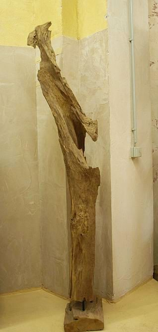 holzskulptur teak holz baum stamm deko statue kunst holzobjekt 203cm ebay. Black Bedroom Furniture Sets. Home Design Ideas