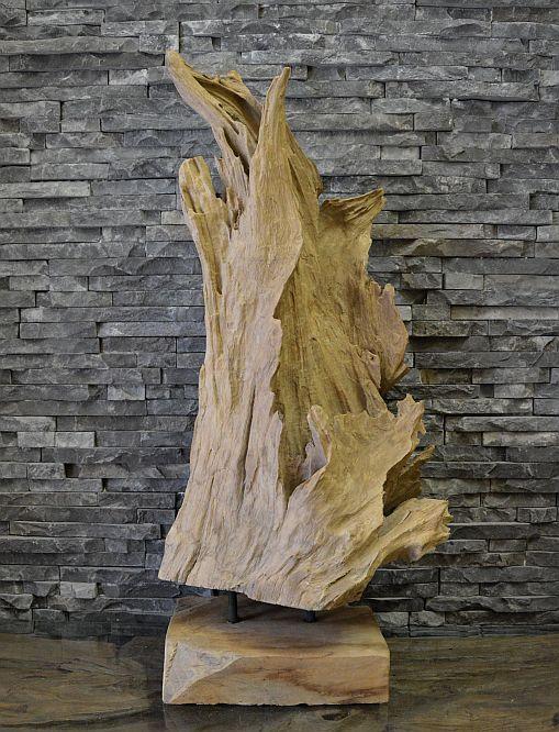 holz skulptur wurzel teak holz treibholz kunst statue deko holzobjekt ebay. Black Bedroom Furniture Sets. Home Design Ideas