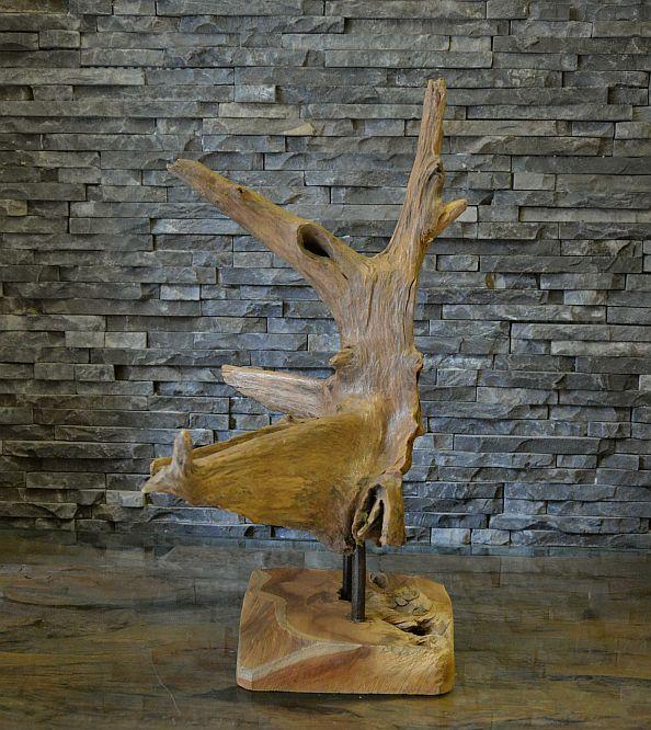 holz skulptur teak wurzel alt holz treibholz kunst statue deko holzobjekt ho1542 ebay. Black Bedroom Furniture Sets. Home Design Ideas
