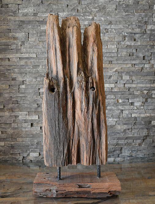 alt holz skulptur steele balken statue kunst deko holzobjekt aufsteller ebay. Black Bedroom Furniture Sets. Home Design Ideas