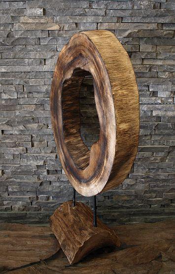 holzskulptur holzobjekt treibholz kunst baumscheibe holzdeko holzkunst ebay. Black Bedroom Furniture Sets. Home Design Ideas