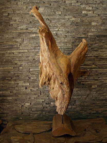 wood sculpture ozzy driftwood root holzdeko wooden object flotsam and jetsam ebay. Black Bedroom Furniture Sets. Home Design Ideas