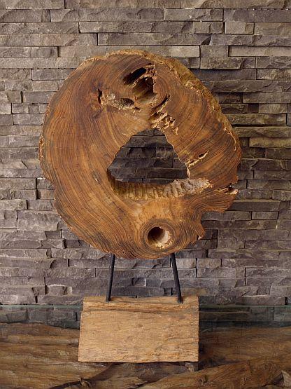 holzskulptur baumscheibe treibholz wurzel holzdeko holzobjekt holzkunst ebay. Black Bedroom Furniture Sets. Home Design Ideas
