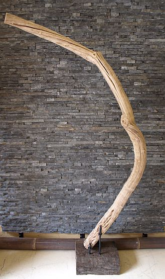 holzskulptur liane auf standfu holzkunst lianen statue deko holzobjekt ebay. Black Bedroom Furniture Sets. Home Design Ideas