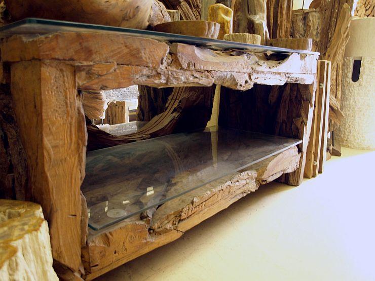Möbel aus treibholz  Teakholz Lowboard Treibholz Möbel Sideboard TV Kommode B=127cm H ...