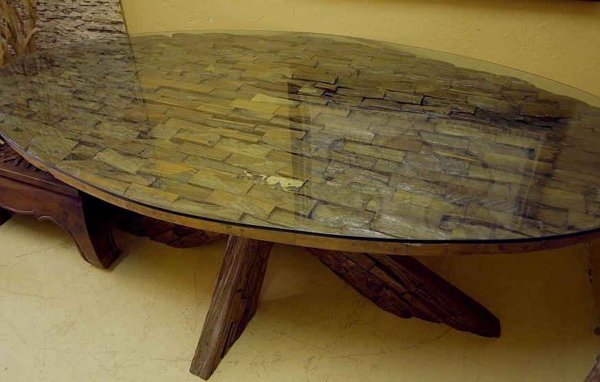 Esstisch Recycled Teakholz Treibholz Tisch Tafel Gartentisch L