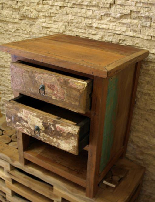 recycled teakholz bootsholz m bel nachttisch kommode. Black Bedroom Furniture Sets. Home Design Ideas