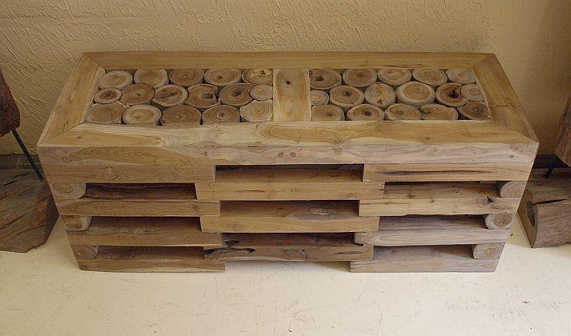 rec teakholz lowboard teak sideboard bank fernsehboard massiv b 100cm h 40cm in in d sseldorf. Black Bedroom Furniture Sets. Home Design Ideas