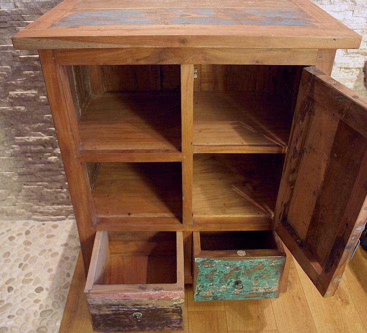 recycled teakholz bootsholz highboard kommode schrank. Black Bedroom Furniture Sets. Home Design Ideas