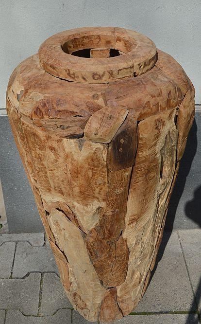 teak wurzel holz treibholz bodenvase vase kunst deko holzobjekt 80x40cm tm25 ebay. Black Bedroom Furniture Sets. Home Design Ideas