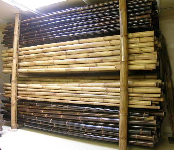 Wir Fuhren Bambusstangen Bambusstange Bambusrohre Bambusrohr