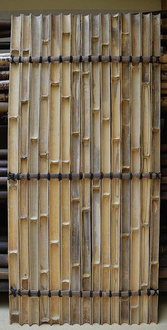 bambus stangen wand verkleidung paneel sichtschutz raumtrenner 2 1 x 1meter ebay. Black Bedroom Furniture Sets. Home Design Ideas