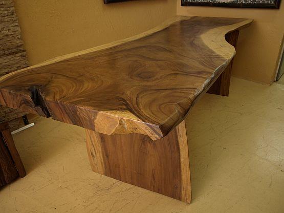 Suar tisch massive platte esstisch tafel schreibtisch for Schreibtisch 2 meter